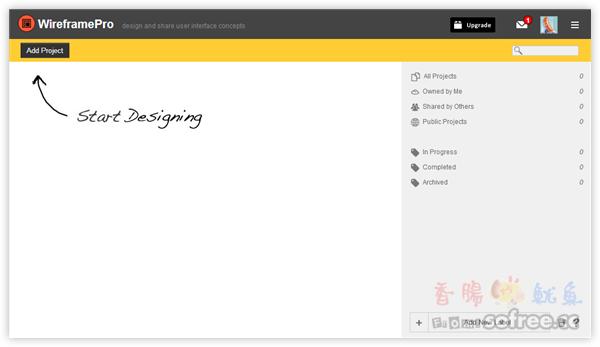 MockFlow 網站框架規劃工具,畫出 Wireframe