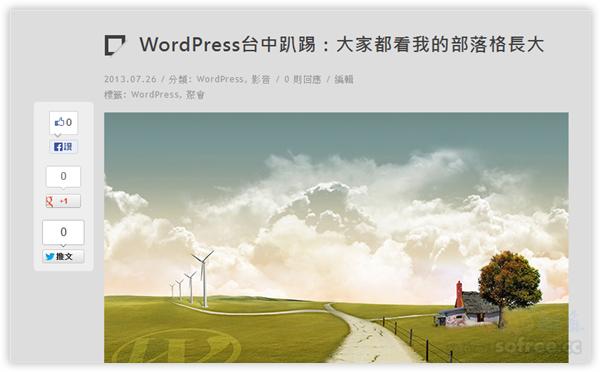 免費WordPress佈景主題下載:Lonesome George 內建社群、SEO、首頁輪播