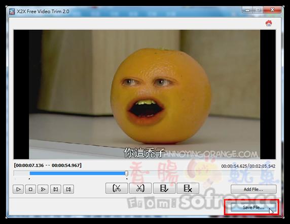 X2X Free Video Trim 免費簡單的影片切割軟體