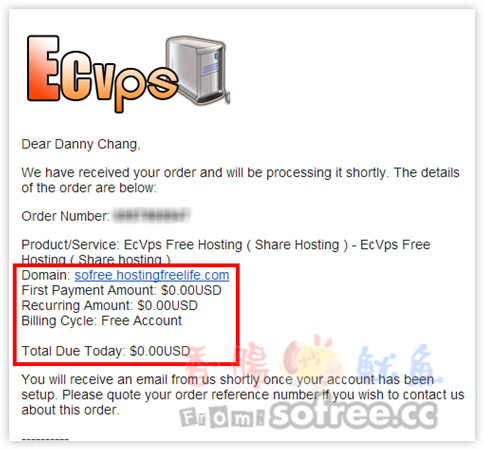 EcVps 免費提供5GB空間、100GB流量 可架設WordPress