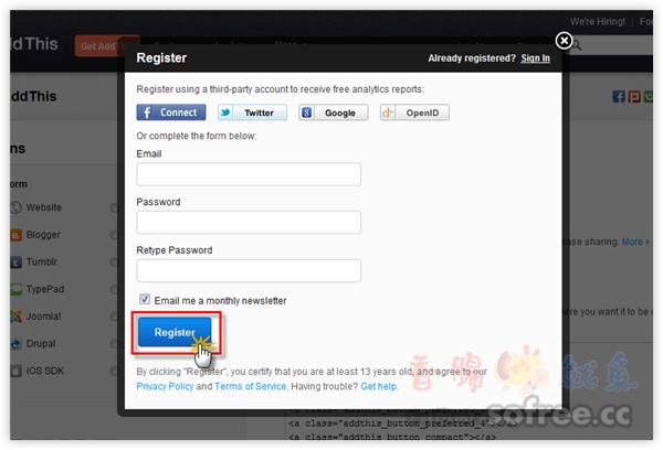 AddThis 三步驟,超簡單放上社群分享按鈕