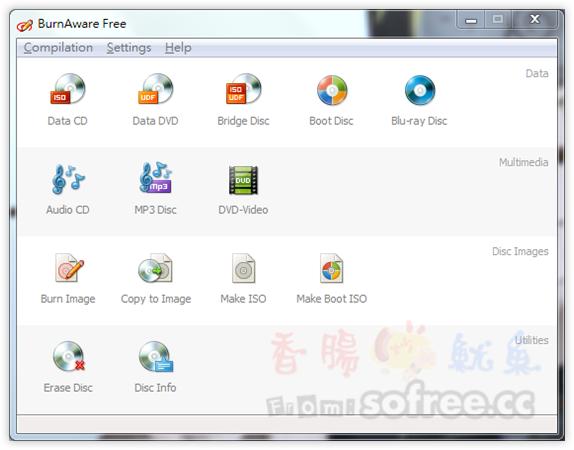 BurnAware Free 免費 CD、DVD、Blu-ray 燒錄軟體