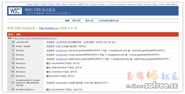 檢查網站是否通過CSS3驗證?