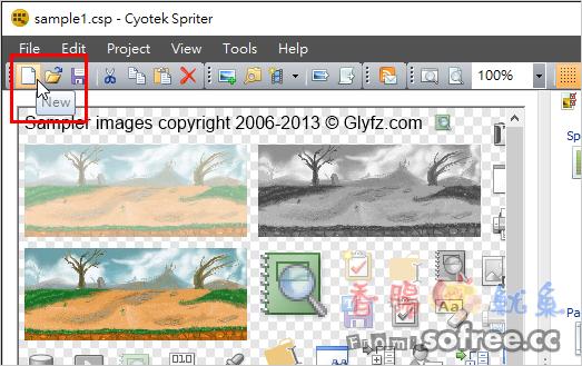 Cyotek Spriter 網站圖片合併軟體,懶人CSS自動合併多張小圖