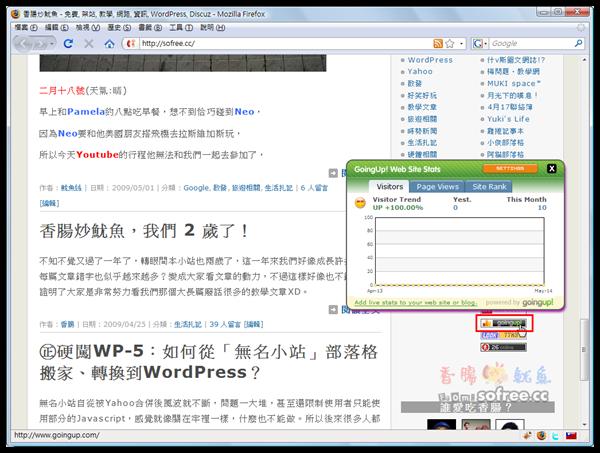 Goingup! 免費SEO、關鍵字、網站統計分析工具
