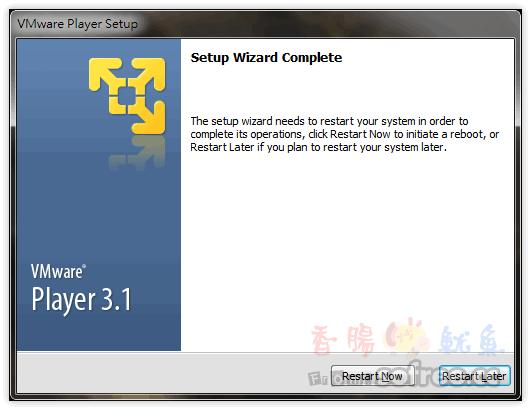 [下載]VMware Player 免費首選虛擬機器,執行速度快!