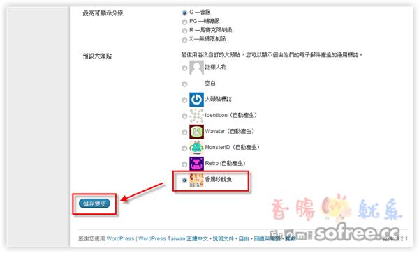 如何在WordPress管理後台加上Gravatar預設頭像選項?