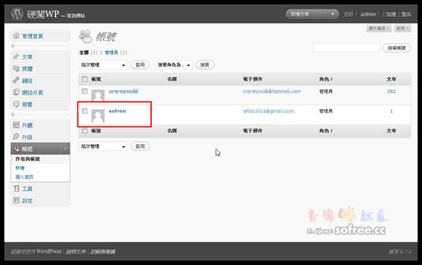 WordPress-修改預設admin帳號