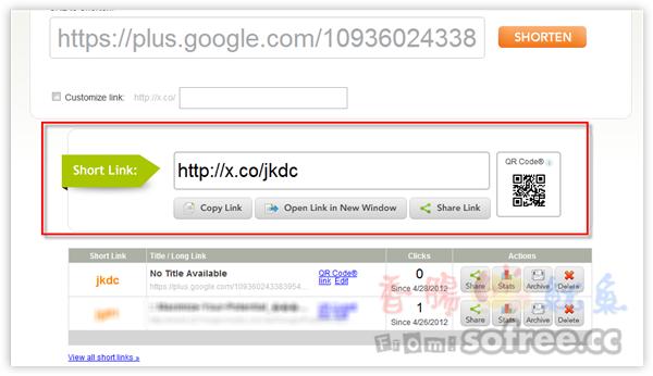 X.CO 超短縮網址服務(GoDadday旗下服務)