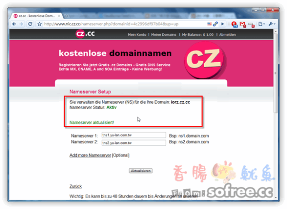 CZ.CC 免費超短二級網址,提供完整DNS管理功能