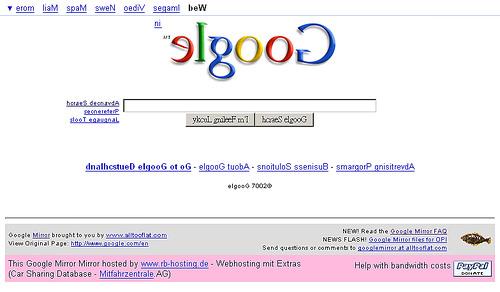 鏡子裡的google-首頁