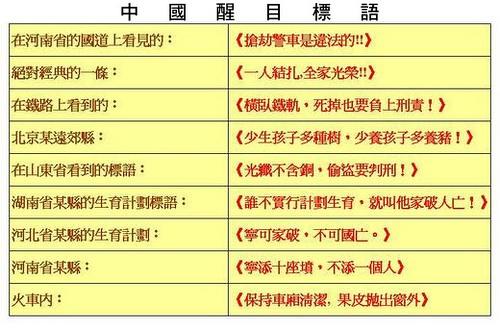 [2]中國醒目標語