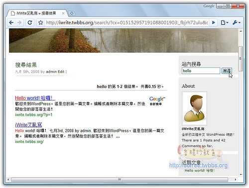 WordPress也能擁有Google搜尋-17