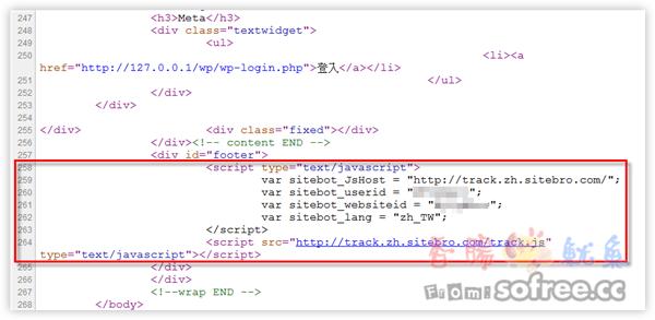 利用function,直接在WordPress的head或footer加上代碼