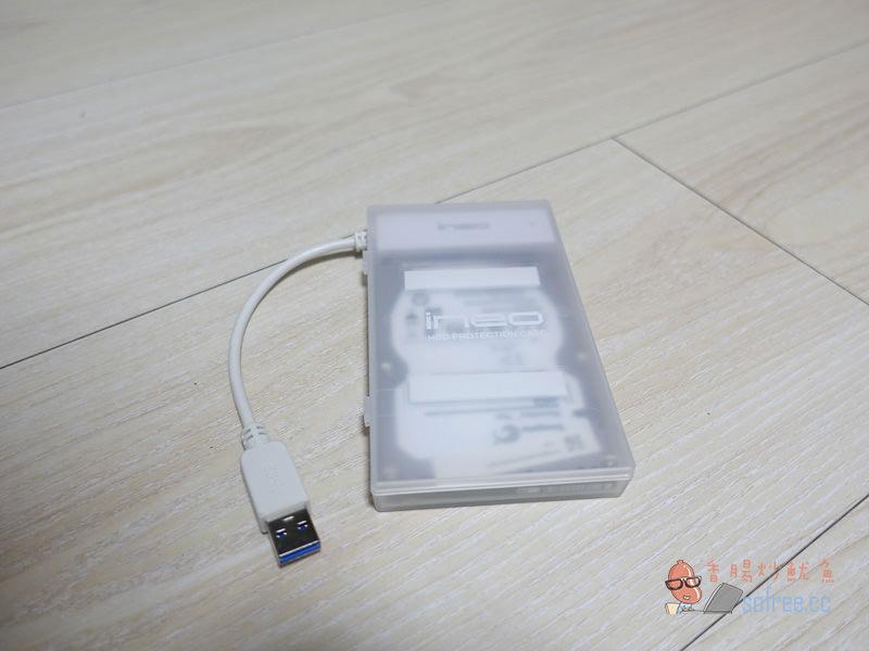 [開箱]INEO透明USB3.0 硬碟外接盒,舊硬碟改造為外接式硬碟隨插即用