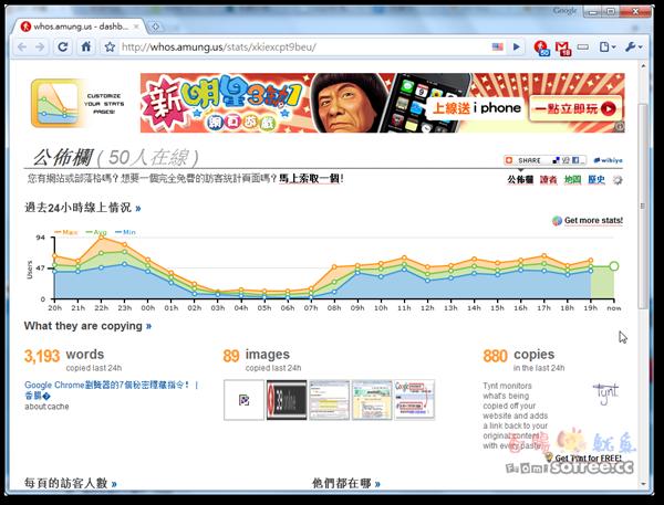whos.amung.us 免費即時網站線上人數統計!